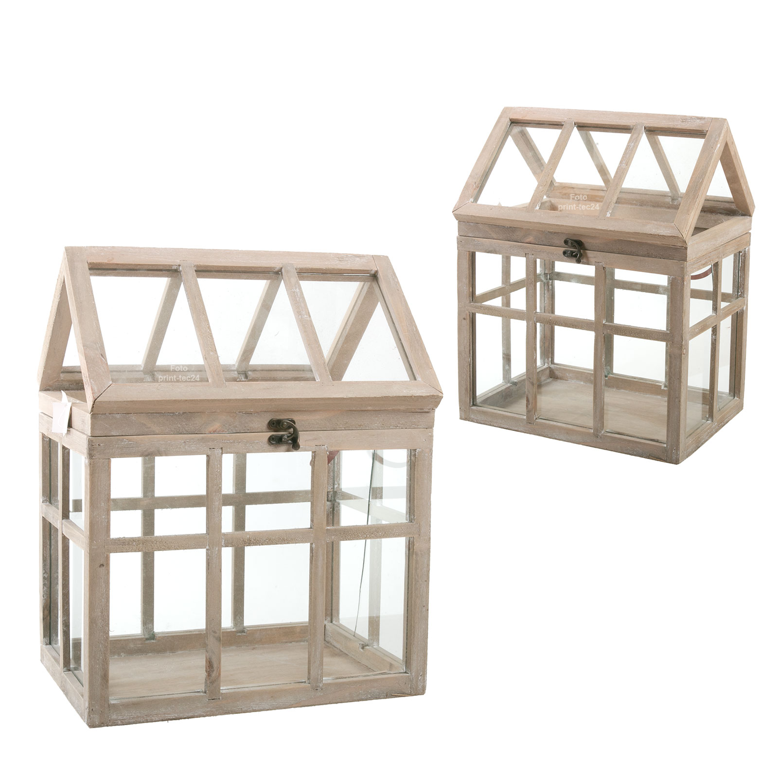 mini gew chshaus braun holz glas ziehkasten windlicht laterne kerzenhalter ebay. Black Bedroom Furniture Sets. Home Design Ideas