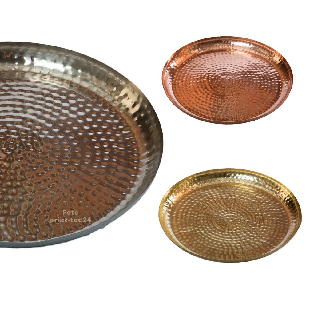 marokkanisches tablett metall orientalisch teetablett gold silber bronzefarben ebay. Black Bedroom Furniture Sets. Home Design Ideas