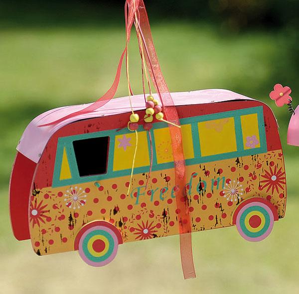 vogelhaus wohnwagen auto nistkasten holz vogelvilla campingwagen futterhaus ebay. Black Bedroom Furniture Sets. Home Design Ideas