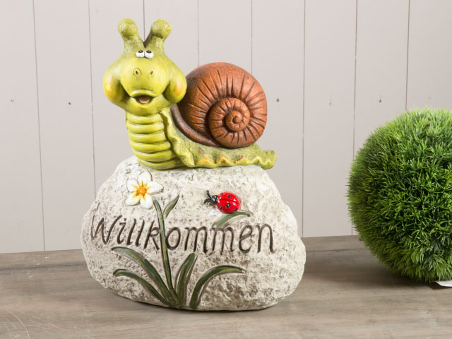 willkommensstein stein schnecke schildkr te gartentier. Black Bedroom Furniture Sets. Home Design Ideas