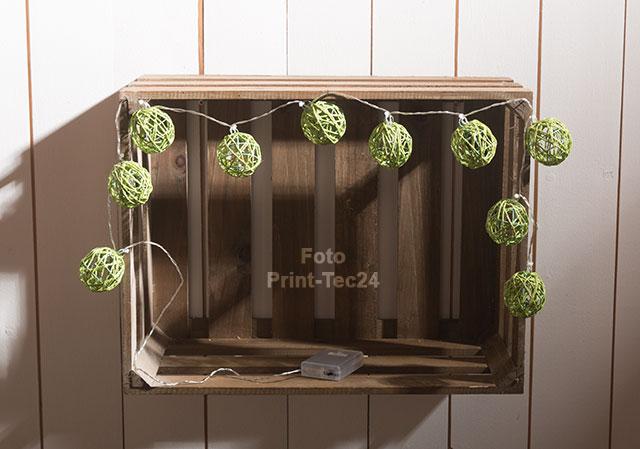 Led lichterkette rattankugeln 10 dekokugeln rattan rattanball dekoration ebay - Lichterkette rattankugeln ...