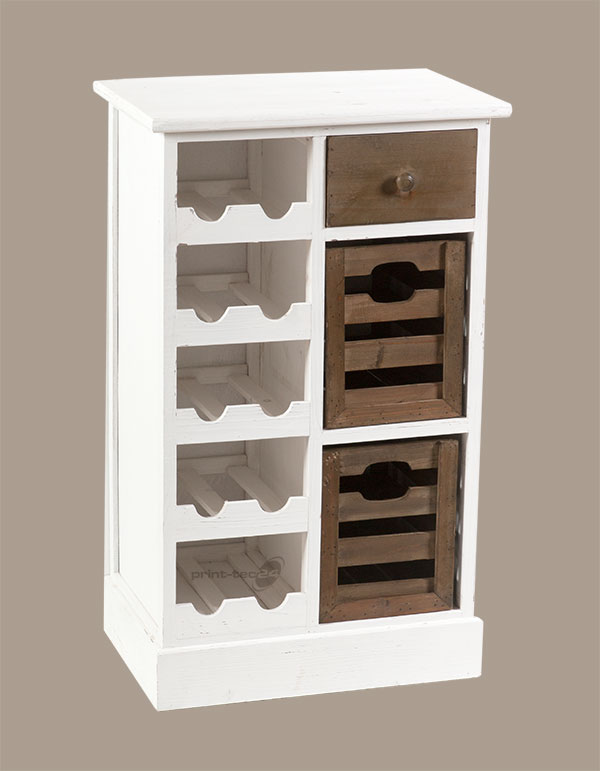 flaschenregal kommode holz wei anrichte schrank weinregal regal wein ebay. Black Bedroom Furniture Sets. Home Design Ideas