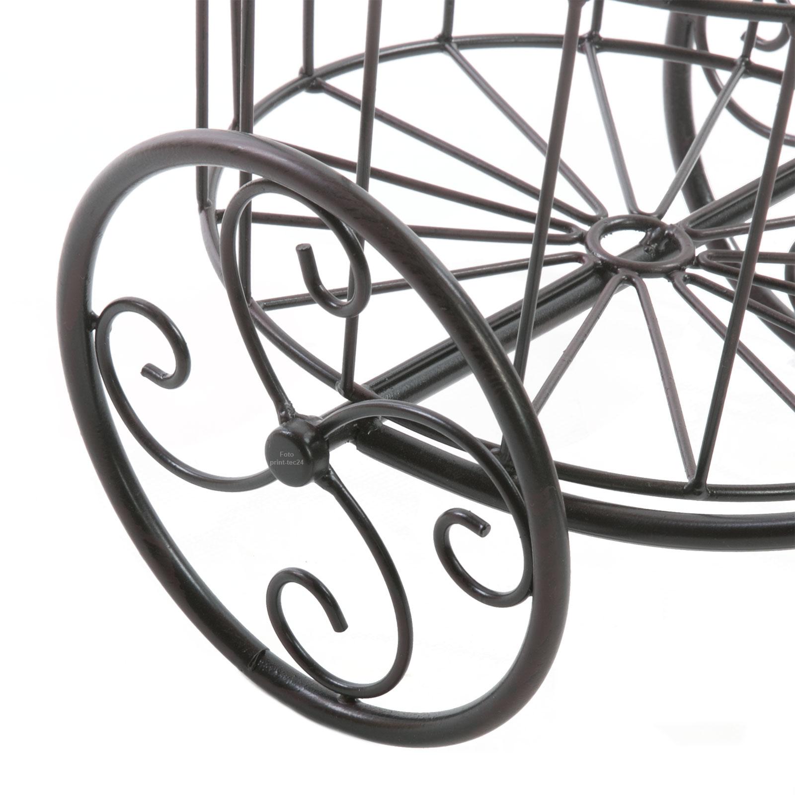 pflanzfahrrad metall schwarz blumenfahrrad fahrrad pflanzkorb blumentopfhalter ebay. Black Bedroom Furniture Sets. Home Design Ideas
