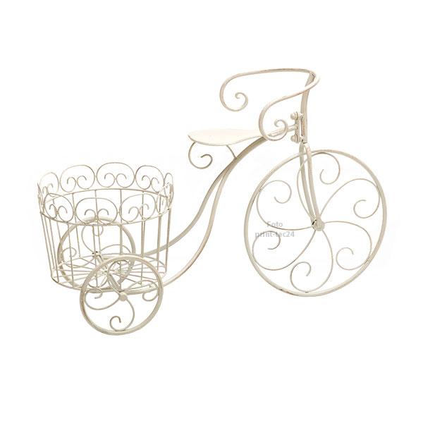 pflanzfahrrad metall wei blumenfahrrad deko fahrrad pflanzkorb blumentopfhalter. Black Bedroom Furniture Sets. Home Design Ideas