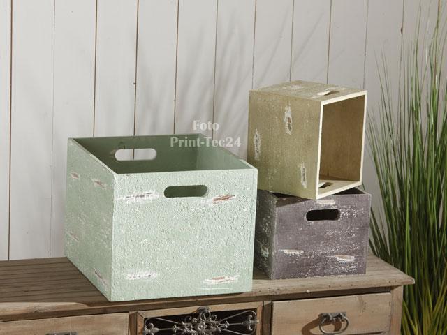 holzbox holz holzkiste kiste box bunt aufbewahrungskiste aufbewahrungsbox ebay. Black Bedroom Furniture Sets. Home Design Ideas
