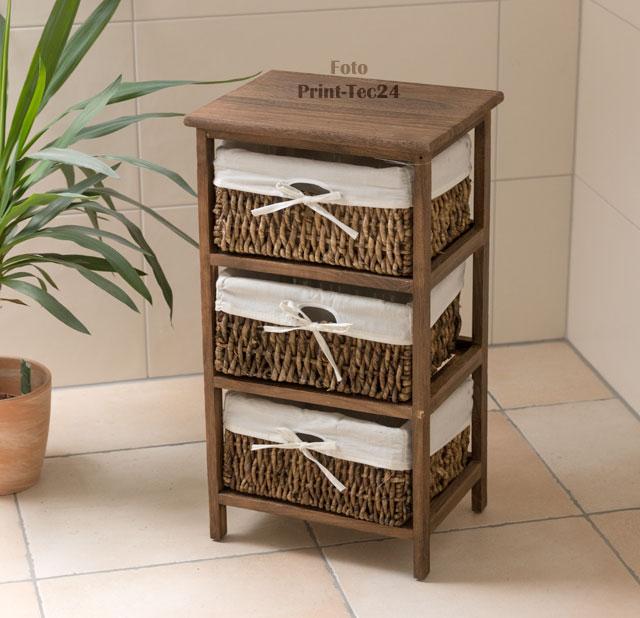 Badezimmermöbel Holz Rattan