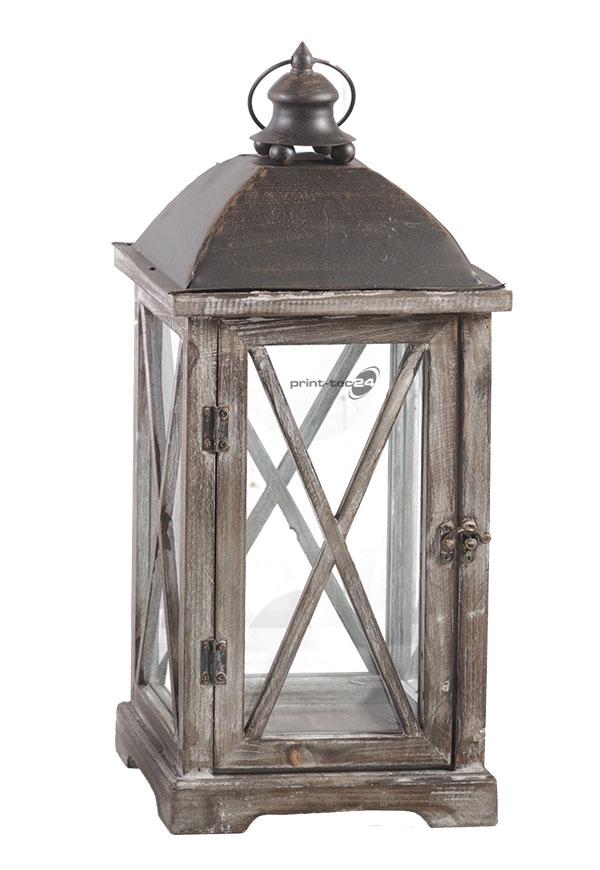 rustikale holzlaterne holz laterne braun windlicht kerzenhalter weihnachten ebay. Black Bedroom Furniture Sets. Home Design Ideas