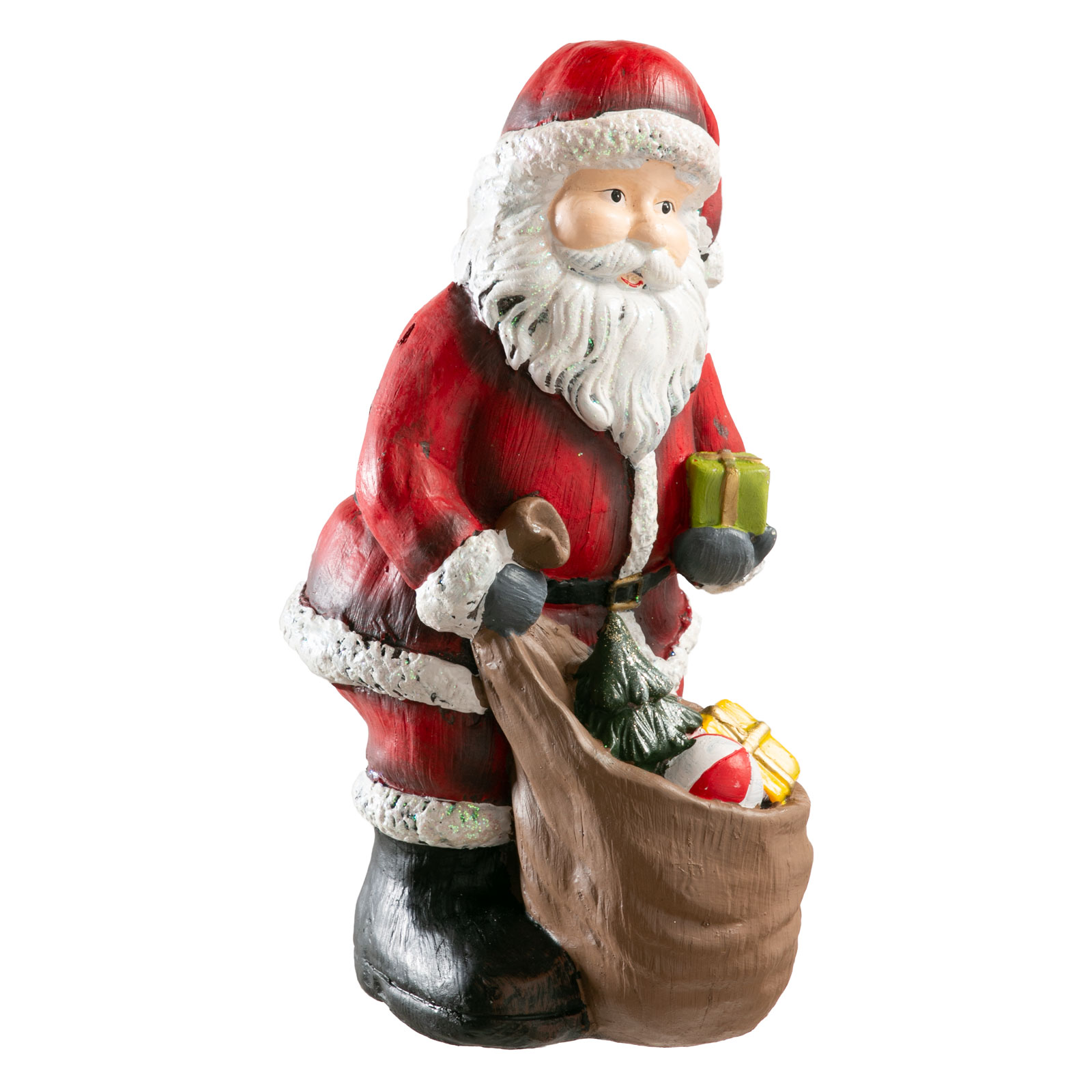 weihnachtsmann rot nikolaus geschenksack santa claus deko figur weihnachten ebay. Black Bedroom Furniture Sets. Home Design Ideas